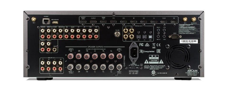 Arcam HDA AVR20 Classe AB Récepteur Audio-Video décodage 16 canaux avec Apple AirPlay® 2 And Chromecast Intégré