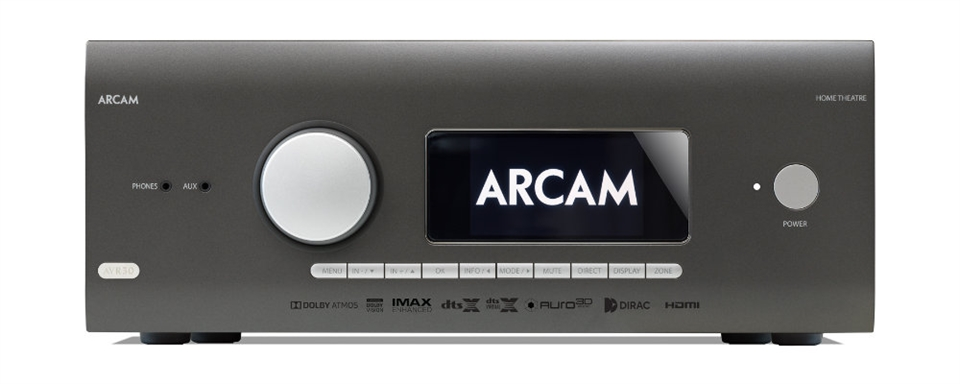 Arcam HDA AVR30 Classe G Récepteur Audio-Vidéo décodage 16 canaux avec Apple AirPlay® 2 And Chromecast Intégré