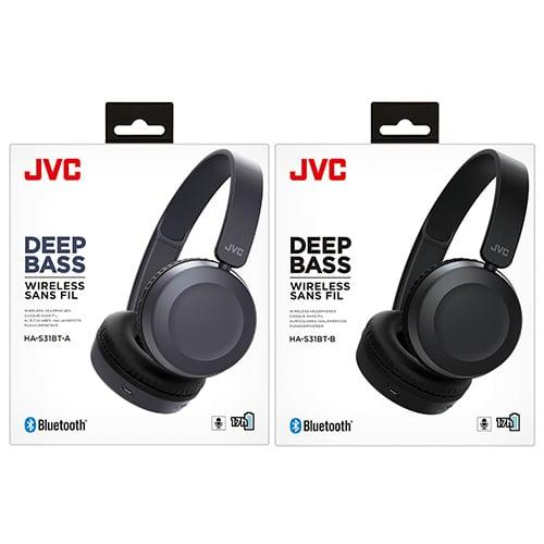 JVC Foldable Bluetooth On-ear Headphones (HA-S31BT)