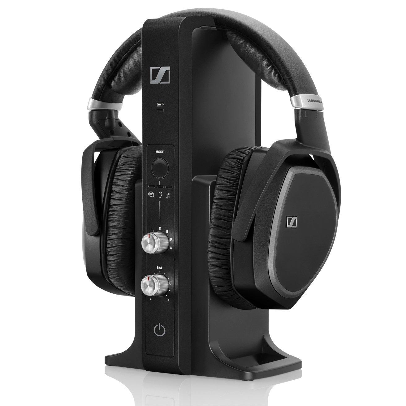 Sennheiser Casque sans fil TV/HiFi permettant de compenser une perte auditive légère (RS195)