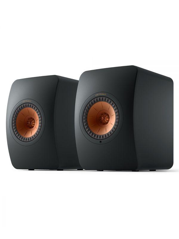 KEF LS50 Collection Wireless II Haut-Parleur Étagère Amplifié Sans-Fil Couleur Noir / Noir carbone