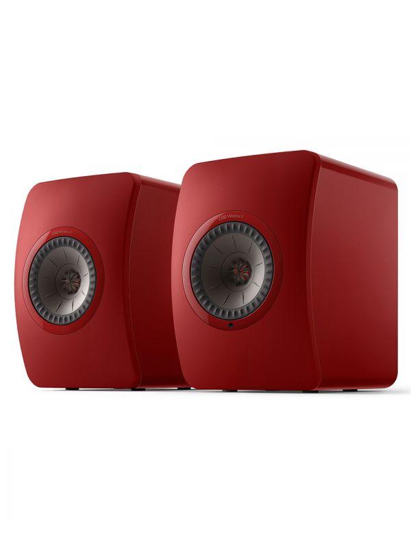 KEF LS50 Collection Wireless II Haut-Parleur Étagère Amplifié Sans-Fil Couleur Rouge / Rouge Cramoisi