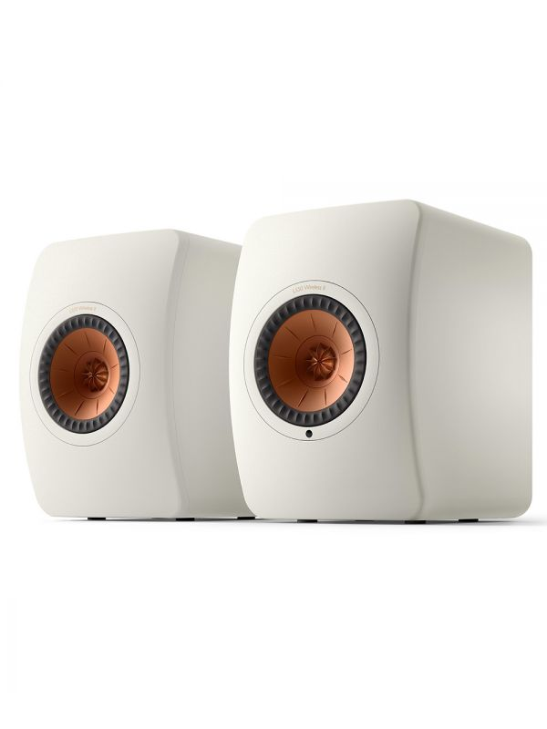 KEF LS50 Collection Wireless II Haut-Parleur Étagère Amplifié Sans-Fil Couleur Blanc / Blanc Minéral