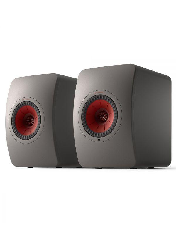 KEF LS50 Collection Wireless II Haut-Parleur Étagère Amplifié Sans-Fil Couleur Gris / Gris Titane