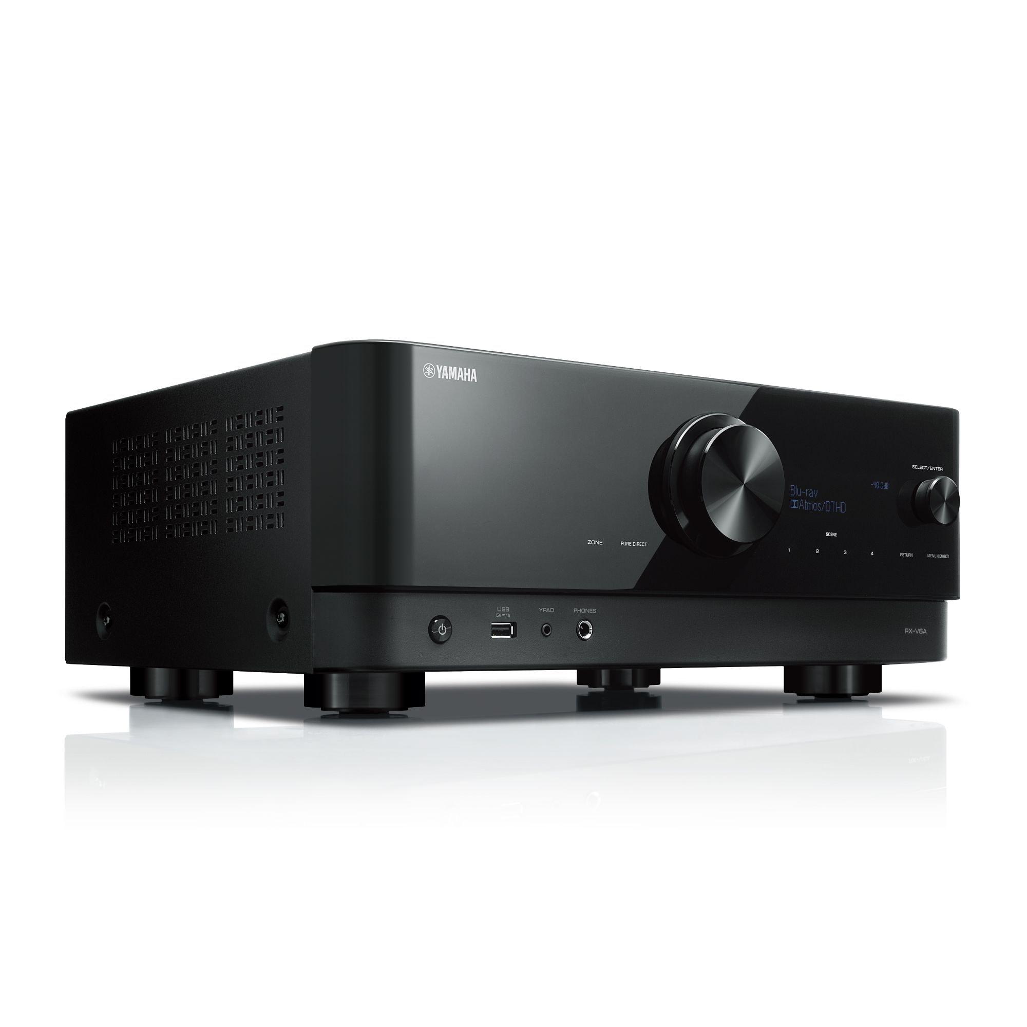 Yamaha RXV6A | Récepteur Cinéma Maison AV Dolby 4K / 8K | 7.2 Canaux | Avec Bluetooth (RX-V6A)