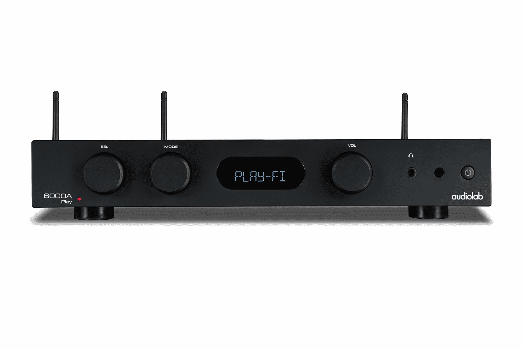 Audiolab 6000A Play Amplificateur Intégré avec Lecteur réseaux WiFi (Black)