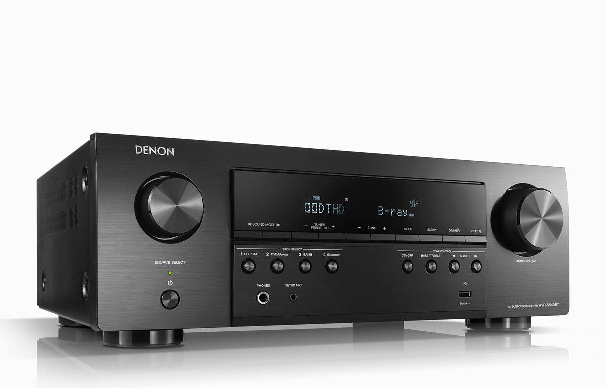 Denon AVR-S540BT Récepteur Cinéma Maison AV 5.2 Canaux 4K Bluetooth