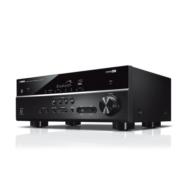 Yamaha RXV385 | Récepteur Cinéma Maison AV 4K | 5.1 Canaux | Avec Bluetooth (RX-V385)