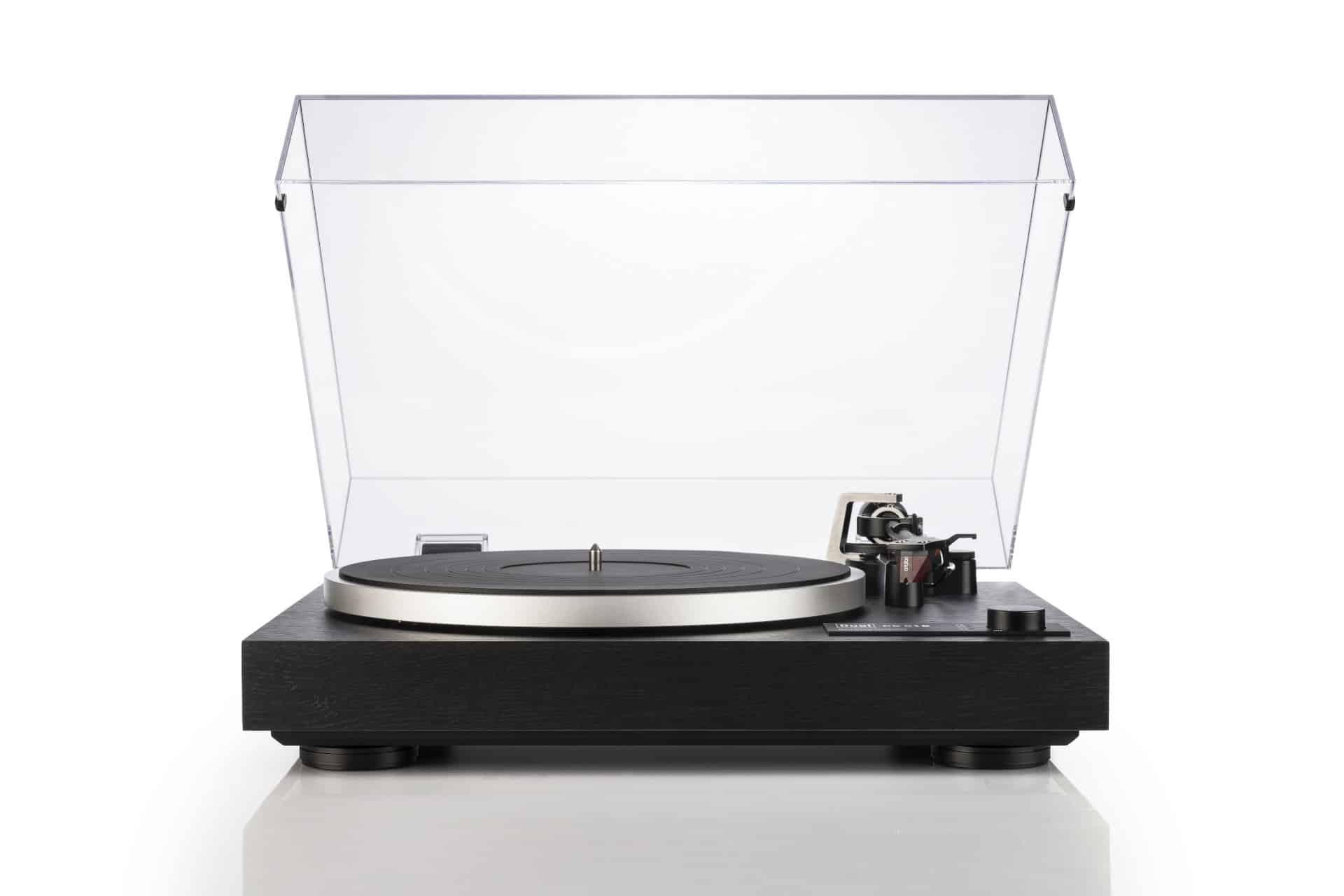 Dual CS518 Platine Vinyle Hi Fi Manuelle Avec Cartouche Ortofon 2m Rouge